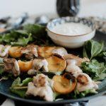 špízy na gril à la kuře s broskví