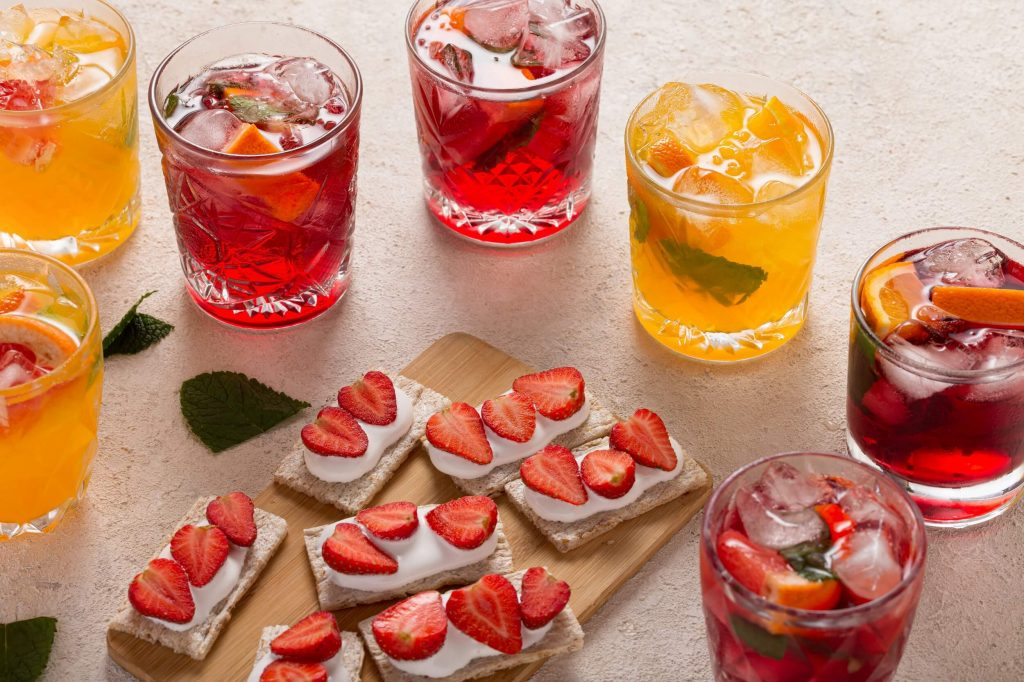 sladké toasty s jahodami