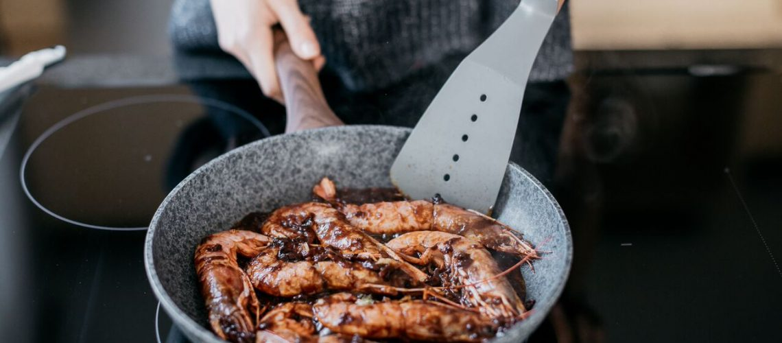 Grilované krevety v barbeque omáčce